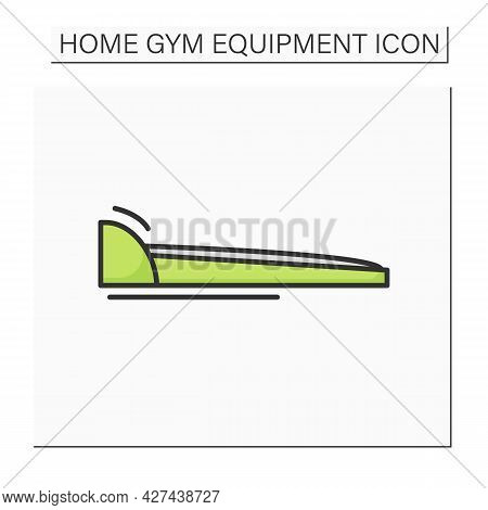 Walking Pad Color Icon. Home Gym And Training. Concept Of Modern Fitness Exercise Machine And Home N