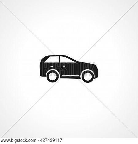 Suv Car Icon. Suv Car Isolated Simple Vector Icon.