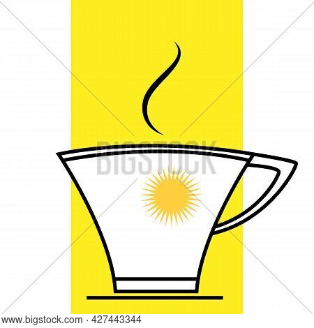 Coffee Cup Sunny Summer Morning Breakfast Icon