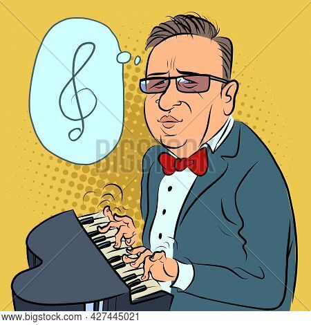 A Man Plays A Toy Piano, A Composer Performs A Concert