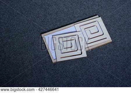 Two-sided Wooden Stencil Labyrinth Laying On Floor, Inter Hemispheric Development And Prewriting Act