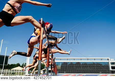 Women 100-meter Hurdles Race Track And Field Athletics Competition