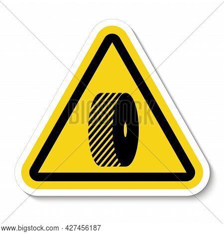 Do Not Change Grinding Wheels Symbol Sign On White Background