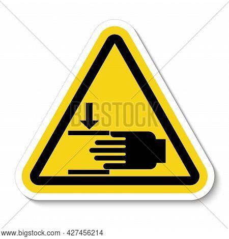 Crush Hazard Mind Your Hands Sign Accident, Alert, Attention, Beware