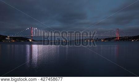 15 July Martyrs Bridge In Istanbul City, Turkey