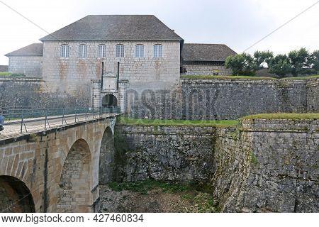 Bridge And Gatehouse To Besancon Citadel, France