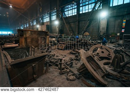 Metallurgical Production, Steelmaking And Processing Iron Products. Manufacturing Premises And Works