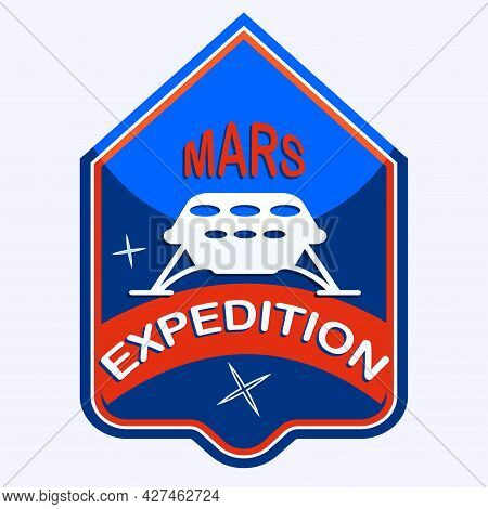 Expedition Mars - Rover - Icon - Isolated On White Background - Vector. Space Exploration.