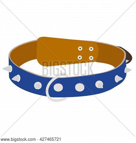 Dog Collar. Vector Cartoon Illustration Isolated On White Background.