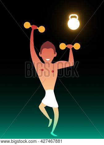Fitness Club. Vector Composition In Gradient Style