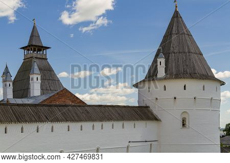 Fortress Wall And Watchtowers Of The Rostov Kremlin.