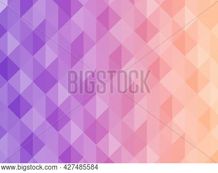 Abstract Geometric Background. Triangular Pixelation. Mosaic, Pink Gradient.