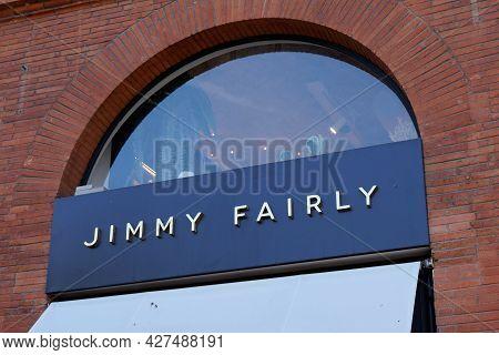 Toulouse , Occitanie France  - 06 25 2021 : Jimmy Fairly Eyeglasses Store Boutique Logo Shop Sign Te