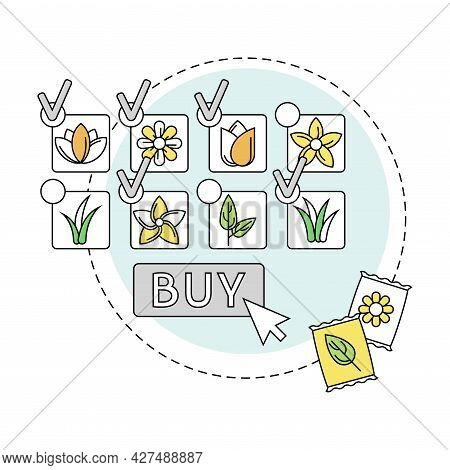 Gardening And Horticulture As Plant Cultivation With Seeds Buying In Online Store For Organic Growin