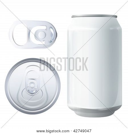 Can And Elements. Vector Design.