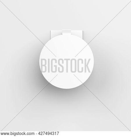 Blank White Advertising Pvc Shelf Wobbler, Plastic Shelf Dangler For Shopping Centres, 3d Illustrati
