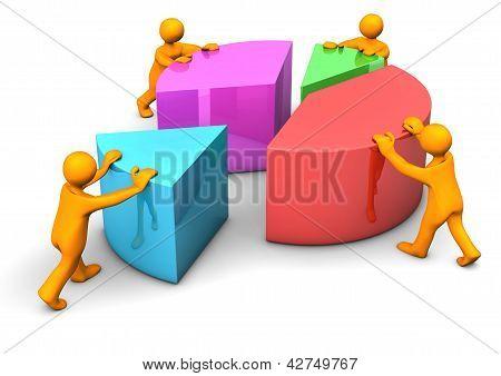 Teamarbeit Kreisdiagramm