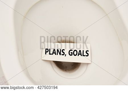 Flush Plans And Goals Down The Toilet