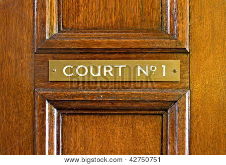 Oak Door Leading Into Court