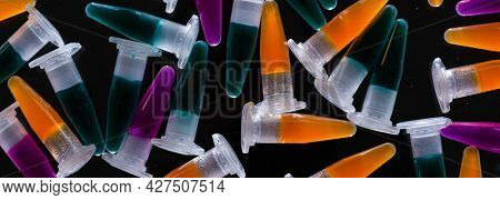 Background of the PCR tubes PCR Tubes on black background