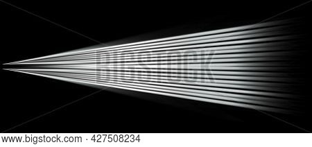 Light Effects. Light Effect Spotlight. Spotlight Black And White Lighting. Isolated On Black Backgro