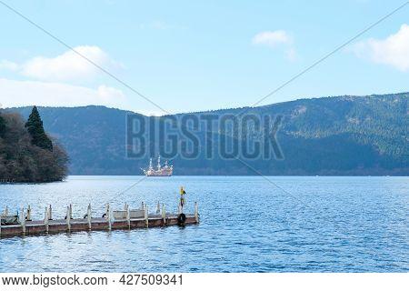 Harbor View On Lake Ashi Or Hakone Lake Over The Hakone Sightseeing Cruise Along The Sea On Beautifu