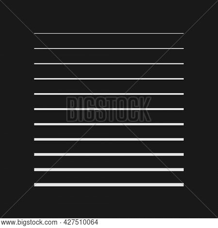 Retrofuturistic Striped Square Shape. Digital Cyber Retro Design Element. Strips In Cyberpunk 80s St