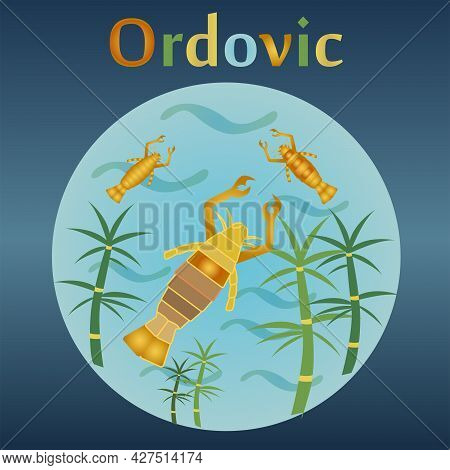 Ordovic Eon In The History Of The Earth. Warm Climate. Distribution Of Marine Invertebrates.