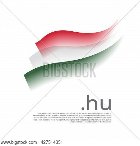Hungary Flag Watercolor. Stripes Colors Of The Hungarian Flag On A White Background. Vector Stylized