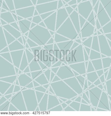 Geometric Vector Abstract Pattern. Geometric Modern Light Blue And White Ornament For Designs And Ba