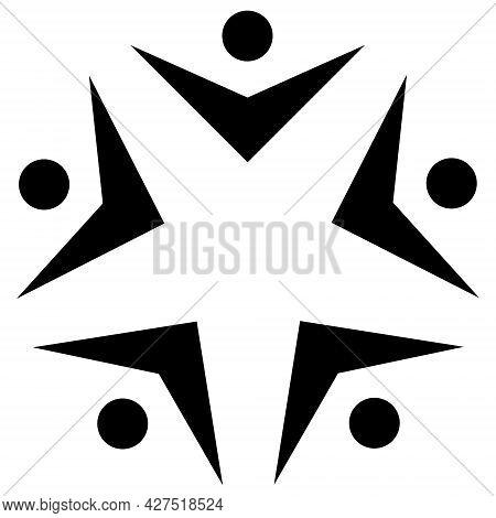 Circle United Community Logo. Bringing People Together, United Community, People Equality Concept. B
