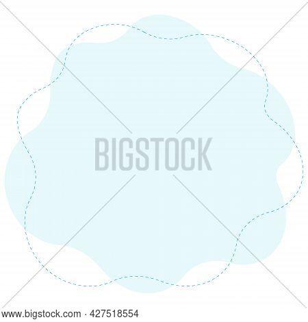 Decorative Background Shape Blue For Concept. Vector Illustration