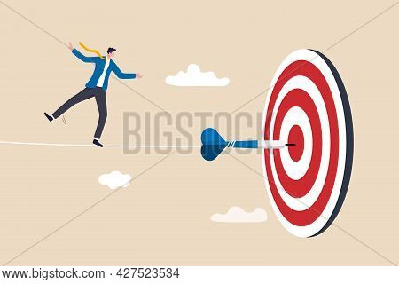 Challenge To Overcome Difficulty And Achieve Business Target, Risk Management Or Strategy And Skill