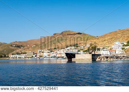 Coressia, Greece, 05.06.2019. Coressia Marina On Kea Island, Cyclades, Greece, With Sailboats, Fishi