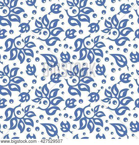 Seamless Pattern. Traditional Folk Ornament. Hand Drawn Vector Illustration.