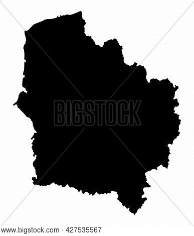 Hauts-de-france Dark Silhouette Map Isolated On White Background, France