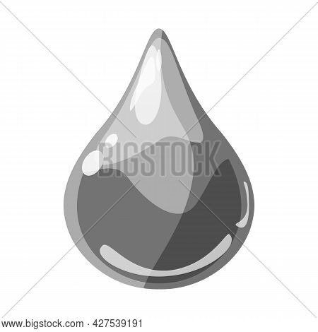 Drop Grey Shiny Glossy Colorful Game Asset. Aqua, Jelly, Crystal, Glass Drip, Bubble Shot Elements.