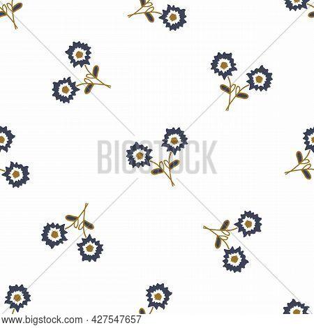 Masculine Geometric Flower Seamless Pattern. Classic Retro Geo Shape For Digital Scrapbook Paper And