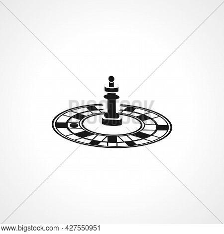 Casino Roulette Icon. Casino Roulette Isolated Simple Vector Icon.