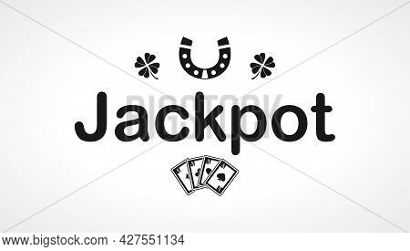 Jackpot Casino Icon. Jackpot Casino Isolated Simple Vector Icon.