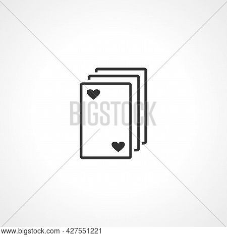 Playing Cards Icon. Playing Cards Isolated Simple Vector Icon.