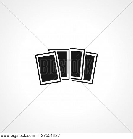 Playing Card Icon. Playing Card Isolated Simple Vector Icon.