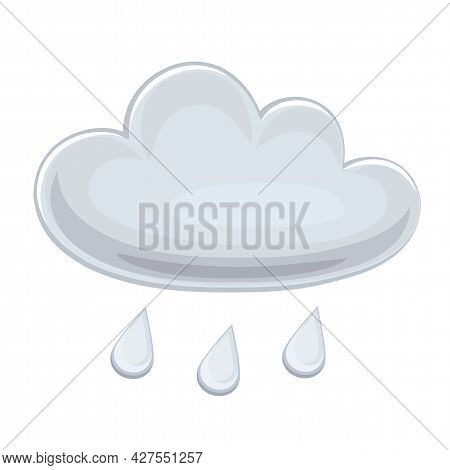 Cloud Icon. Weather Forecast Icon. Vector Illustration