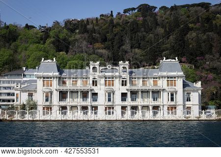 Building In Bosphorus Strait Side Of Istanbul City, Turkey