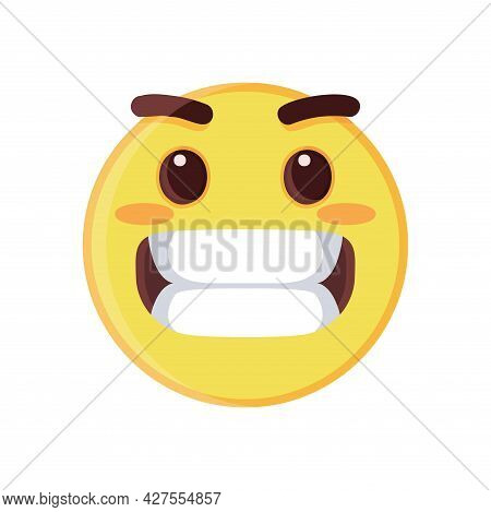 Isolated Grimacing Emoji Face Icon Vector Illustration