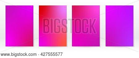 Minimal Poster. Pastel Soft. Pink Rose Gradient Set. Graphic Color Background. Blurred Mesh Texture.