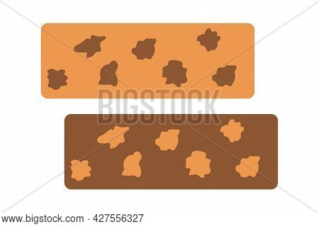 Sherbet With Chocolate And Nuts On An Isolated Background. Eastern Sweets. Tea Time. Dessert. Design