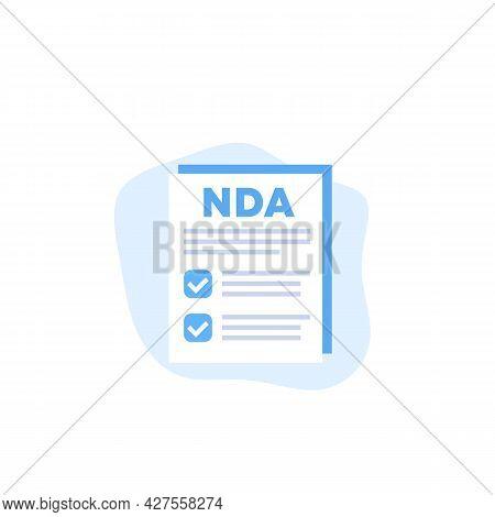 Nda, Non Disclosure Agreement Form, Vector Art
