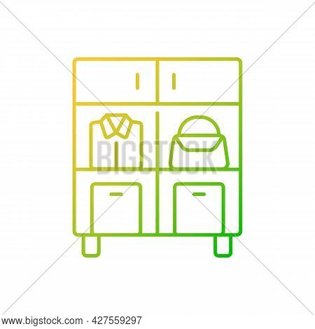 Home Organization Gradient Linear Vector Icon. Smart Storage Solutions. Restoring Order In Home. Max