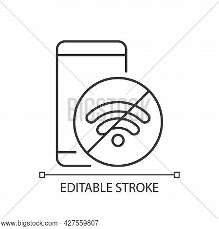 Internet Connection Issues Linear Icon. Slow Wifi Sign. Unstable Connection. Slow Internet Speed. Th